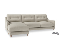 XL Left Hand  Slim Jim Chaise Sofa in Thatch house fabric