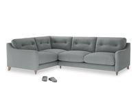 Large Left Hand Slim Jim Corner Sofa in Armadillo Clever Softie