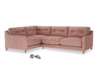 Large Left Hand Slim Jim Corner Sofa in Blossom Clever Laundered Linen