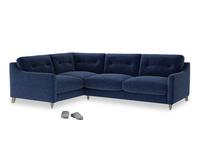 Large Left Hand Slim Jim Corner Sofa in Ink Blue wool