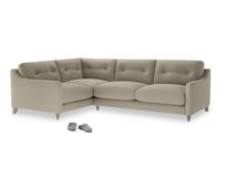 Large Left Hand Slim Jim Corner Sofa in Jute vintage linen