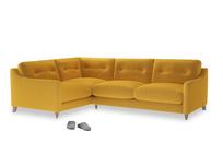 Large Left Hand Slim Jim Corner Sofa in Pollen Clever Deep Velvet