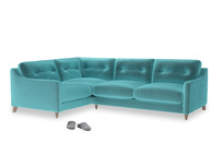 Large Left Hand Slim Jim Corner Sofa in Belize clever velvet