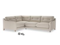 Large Left Hand Slim Jim Corner Sofa in Buff brushed cotton