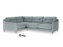 Large Left Hand Slim Jim Corner Sofa in Quail's egg clever linen