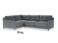 Large Left Hand Slim Jim Corner Sofa in Dusk vintage linen