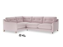 Large Left Hand Slim Jim Corner Sofa in Dusky blossom washed cotton linen