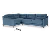Large Left Hand Slim Jim Corner Sofa in Easy blue clever linen
