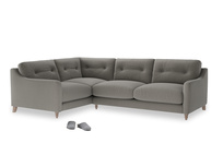 Large Left Hand Slim Jim Corner Sofa in Monsoon grey clever cotton