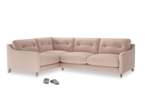 Large Left Hand Slim Jim Corner Sofa in Pink clay Clever Softie
