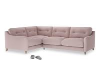 Large Left Hand Slim Jim Corner Sofa in Potter's pink Clever Linen