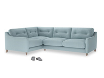 Large Left Hand Slim Jim Corner Sofa in Powder Blue Clever Softie