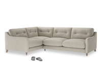 Large Left Hand Slim Jim Corner Sofa in Thatch house fabric