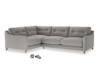 Large Left Hand Slim Jim Corner Sofa in Wolf brushed cotton