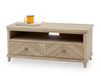 Telly Flapper wooden parquet TV stand