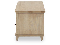 Telly Flapper oak parquet TV stand side