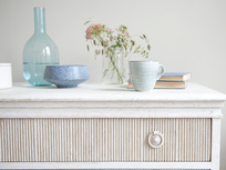 Tilda reclaimed ribbed pine drawers bedroom dresser