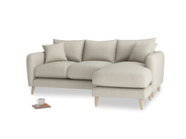 Large right hand Squishmeister Chaise Sofa in Thatch house fabric