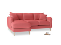 Large left hand Squishmeister Chaise Sofa in Carnival Clever Deep Velvet