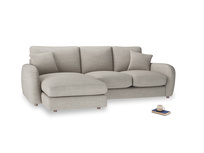 Large left hand Easy Squeeze Chaise Sofa in Grey Daybreak Clever Laundered Linen