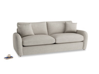 Large Easy Squeeze Sofa Bed in Grey Daybreak Clever Laundered Linen