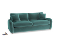 Large Easy Squeeze Sofa Bed in Real Teal clever velvet