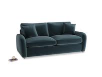 Medium Easy Squeeze Sofa Bed in Bluey Grey Clever Deep Velvet