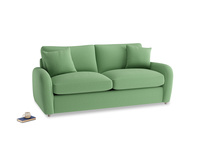 Medium Easy Squeeze Sofa Bed in Clean green Brushed Cotton