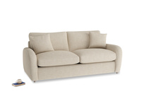 Medium Easy Squeeze Sofa Bed in Flagstone clever woolly fabric