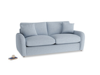 Medium Easy Squeeze Sofa Bed in Frost clever woolly fabric