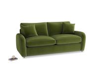 Medium Easy Squeeze Sofa Bed in Good green Clever Deep Velvet