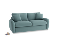 Medium Easy Squeeze Sofa Bed in Marine washed cotton linen