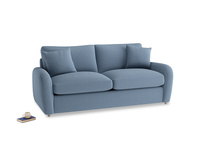 Medium Easy Squeeze Sofa Bed in Nordic blue brushed cotton