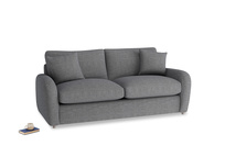Medium Easy Squeeze Sofa Bed in Strong grey clever woolly fabric