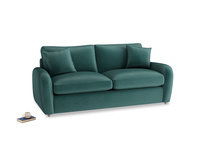 Medium Easy Squeeze Sofa Bed in Timeless teal vintage velvet