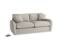 Medium Easy Squeeze Sofa Bed in Grey Daybreak Clever Laundered Linen