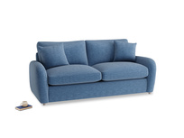 Medium Easy Squeeze Sofa Bed in Hague Blue cotton mix