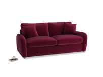 Medium Easy Squeeze Sofa Bed in Merlot Plush Velvet