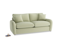 Medium Easy Squeeze Sofa Bed in Old sage washed cotton linen