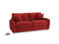 Medium Easy Squeeze Sofa Bed in Rusted Ruby Vintage Velvet