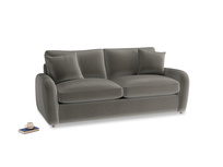 Medium Easy Squeeze Sofa Bed in Slate clever velvet