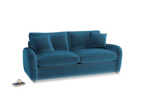 Medium Easy Squeeze Sofa Bed in Twilight blue Clever Deep Velvet