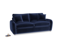 Medium Easy Squeeze Sofa Bed in Goodnight blue Clever Deep Velvet