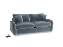 Medium Easy Squeeze Sofa Bed in Mermaid plush velvet