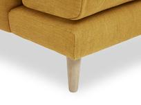 Squishmeister Love Seat Chaise leg corner leg detail