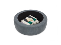 Pot Pie Upholstered Storage Footstool storage detail