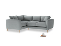 Large Left Hand Squishmeister Corner Sofa in Armadillo Clever Softie