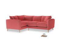 Large Left Hand Squishmeister Corner Sofa in Carnival Clever Deep Velvet