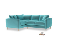 Large Left Hand Squishmeister Corner Sofa in Belize clever velvet