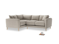 Large Left Hand Squishmeister Corner Sofa in Birch wool